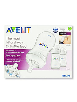 3-Pack Natural Slow Flow Bottles by Avent