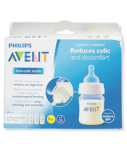 3-Pack Wide-Neck Anti-Colic Bottles by Avent in Clear