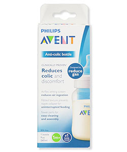 Wide-Neck Anti-Colic Bottle by Avent in White