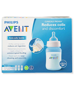 3-Pack Wide-Neck Anti-Colic Bottles by Avent in Blue, Infants
