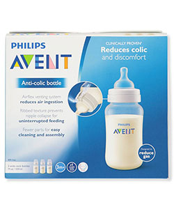 3-Pack Wide-Neck Anti-Colic Bottles by Avent in White, Infants