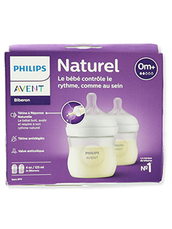 2-Pack Natural Bottles by Avent in White