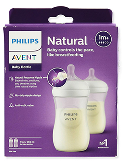 2-Pack Natural Bottles by Avent in White, Infants