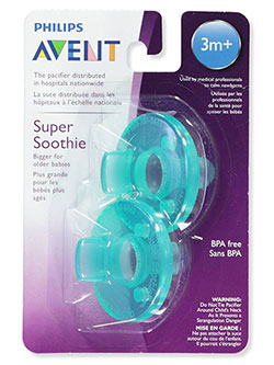 2-Pack Super Soothie Pacifiers by Avent in Green, Infants