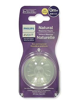 2-Pack Natural Newborn Flow Pacifiers by Avent in Clear, Infants