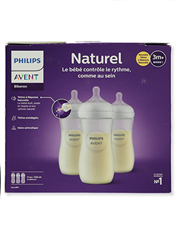 3-Pack Natural Wide Neck Bottles by Avent in Clear