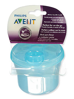 Formula Powder and Snack Dispenser by Avent in black and blue