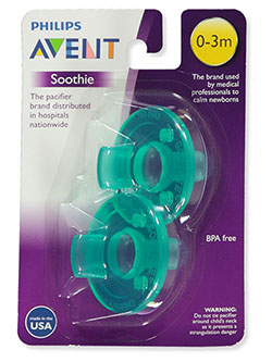 2-Pack Soothie Pacififers by Avent in Green, Infants