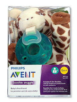 Soothie Snuggle Pacifier with Toy by Avent in Multi
