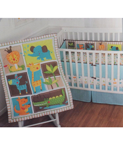 "Sumersault ""King of the Jungle"" 4-Piece Crib Set - CookiesKids.com"