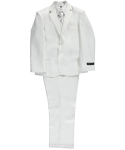 "Andrew Fezza Little Boys' ""Boldly Stark"" 5-Piece Suit (Sizes 4 – 7) - CookiesKids.com"