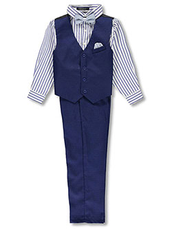 Boys' 4-Piece Vest Set by Andrew Fezza in Royal blue
