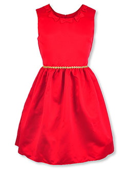 Girls' Bow Neckline Dress by Purple Rose in Multi
