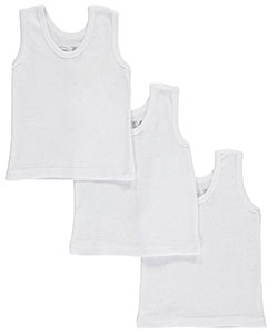 Unisex Baby 3-Pack Tank Tops by Bambini in White