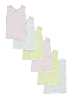 Baby Girls' 6-Pack Tank Tops by Bambini in Pink