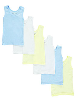 Baby Boys' 6-Pack Tank Tops by Bambini in Blue
