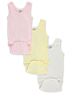 Baby Girls' 3-Pack Tank Bodysuits by Bambini in Multi, Infants