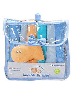 Luvable Friends 12 Washcloth Set with Goldfish Toy - CookiesKids.com