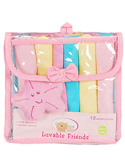 Luvable Friends 12 Washcloth Set with Starfish Toy - CookiesKids.com