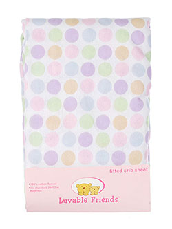 "Luvable Friends ""Multicolor Dots"" Fitted Crib Sheet (28"" x 52"") - CookiesKids.com"