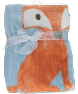 "Luvable Friends ""Fox"" Plush Baby Blanket - CookiesKids.com"