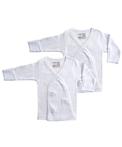 Luvable Friends 2-Pack Unisex L/S Side Snaps Shirts (Sizes NB – 3M) - CookiesKids.com