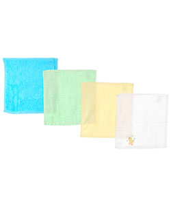 "Luvable Friends ""Just Ducky"" 4-Pack Washcloths - CookiesKids.com"