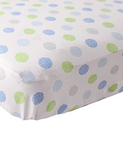 Fitted Crib Sheet by Luvable Friends in Blue/white