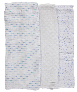 "Hudson Baby ""Constellation Medley"" 3-Pack Swaddle Blankets - CookiesKids.com"