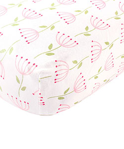 Organic Cotton Fitted Crib Sheet by Touched by Nature in Pink