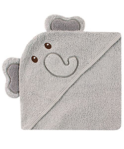 """Elephant"" Hooded Towel by Luvable Friends in Charcoal gray, Infants"