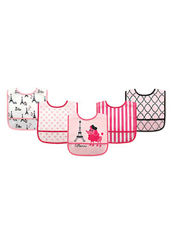 5-Pack Easy-Clean Bibs by Luvable Friends in Pink - $9.00