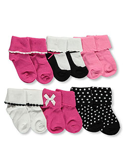 6-Pack Socks by Luvable Friends in Fuchsia/multi