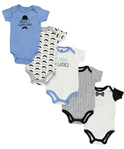 Hudson 5-Pack Bodysuits by Hudson Baby in Blue/multi