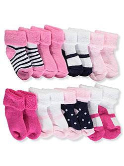 "Baby Girls' ""Ballet"" 8-Pack Socks by Luvable Friends in Pink/multi, Infants"