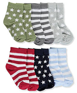 6-Pack Socks by Luvable Friends in Blue/multi