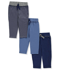 Baby Boys' 3-Pack Pants by Hudson Baby in Navy/charcoal gray