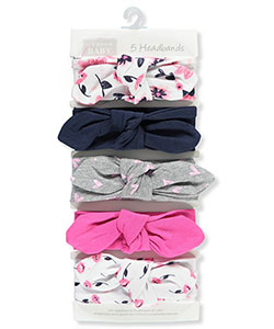 Girls' 5-Piece Headband Set by Hudson Baby in Fuchsia/multi