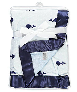 Plush Blanket by Hudson Baby in Whale