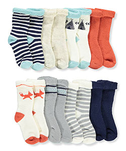 Baby Boys' 8-Pack Socks by Hudson Baby in Fox, Infants