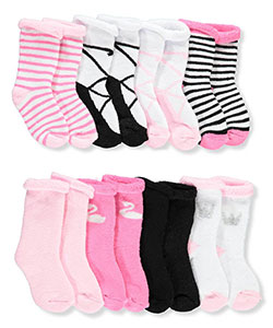 Baby Girls' 8-Pack Socks by Hudson Baby in Pink/multi