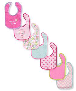 Baby Girls' 7-Pack Bibs by Luvable Friends in Pink/multi