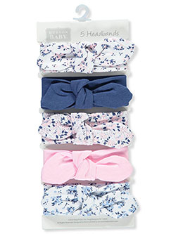 Girls' 5-Pack Headband Set by Hudson Baby in Pink/multi