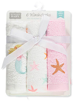 6-Pack Terry Washcloths by Hudson Baby in Multi