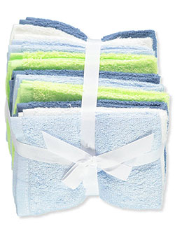 10-Pack Terry Washcloths by Little Treasure in Blue multi
