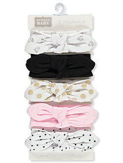 Hudson Baby 5-Pack Headbands by Luvable Friends in Multi