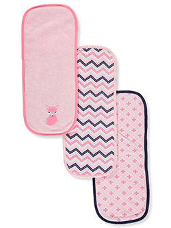 Baby Girls' 3-Pack Burp Cloths by Luvable Friends in Multi