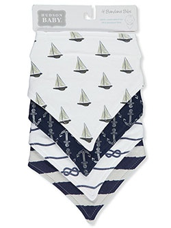 4-Pack Bandana Bibs by Hudson Baby in Multi