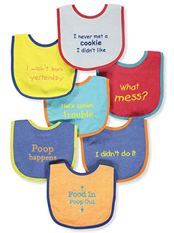 7-Pack Bibs by Luvable Friends in Multi