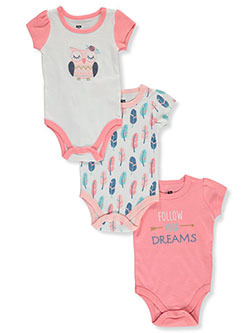 3-Pack Bodysuits by Hudson Baby in Multi